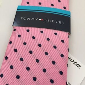 Boy's Tie NEW Tommy Hilfiger Navy Polka Dot